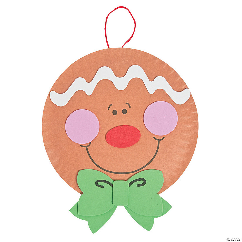 sc 1 st  Oriental Trading & Paper Plate Gingerbread Man Christmas Craft Kit
