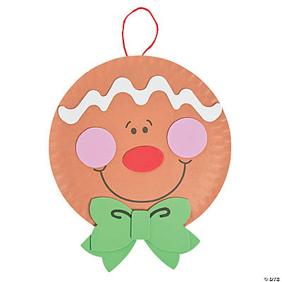 Gingerbread man christmas craft kit in 48 4850 paper plate gingerbread