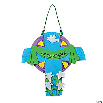 "Paper Plate ""He Is Risen!"" Cross Craft Kit"