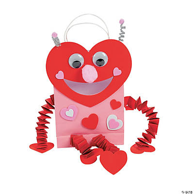 Luv Bug Valentine Card Holder Paper Bag Craft Kit