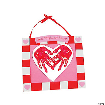 Handprint Heart Keepsake Hanger Craft Kit