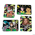 Color Your Own Safari Fuzzy Photo Frame Magnets