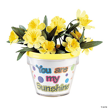 Color Your Own Sunshine Flowerpots