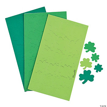 Self-Adhesive Shamrock Shapes
