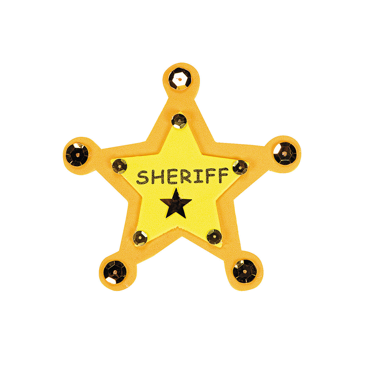 """Sheriff"" Badge Craft Kit - Oriental Trading"