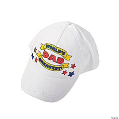 "Color Your Own ""World's Greatest Dad"" Baseball Caps"