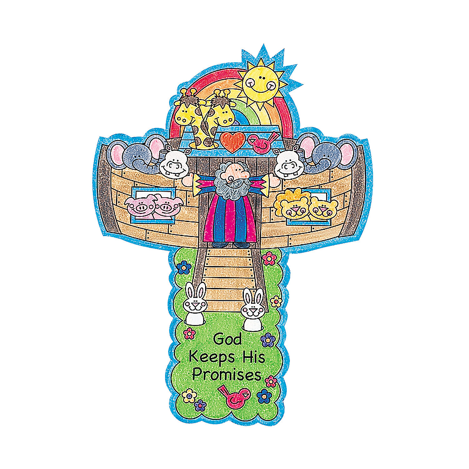 Color your own noah 39 s ark crosses oriental trading for The ark of craft