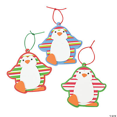 Striped Penguin Christmas Ornament Craft Kit