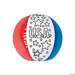 Inflatable Color Your Own Patriotic Beach Balls