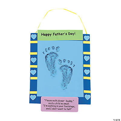 Father's Day Footprint Banner Keepsake Craft Kit