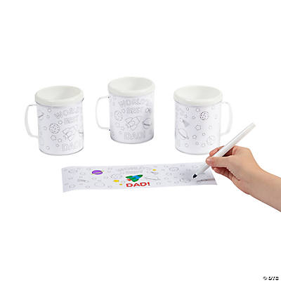 Color Your Own Dad Artist Mugs
