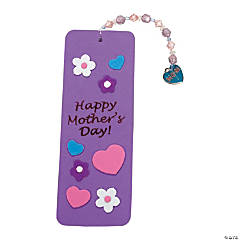 Foam Mother's Day Beaded Charm Bookmark Craft
