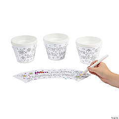 "Color Your Own ""Mom"" Artist Flowerpots"