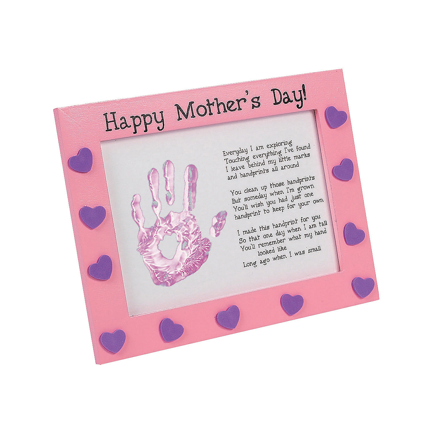 mother 39 s day handprint frame craft kit oriental trading