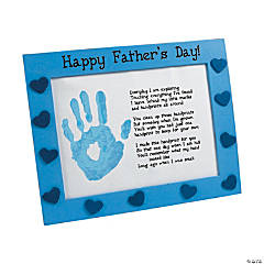 Wooden Father's Day Handprint Frame Craft Kit