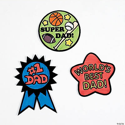 Color Your Own Dad Fuzzy Magnets