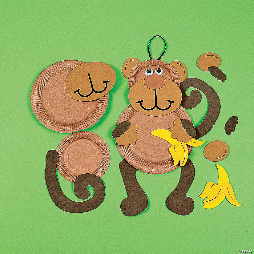 Paper Plate Monkey Craft Kit  sc 1 st  Oriental Trading & Paper Plate Monkey Craft Kit - Discontinued