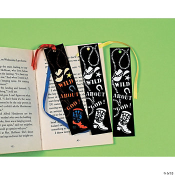 Color Your Own Fuzzy Western Bookmarks