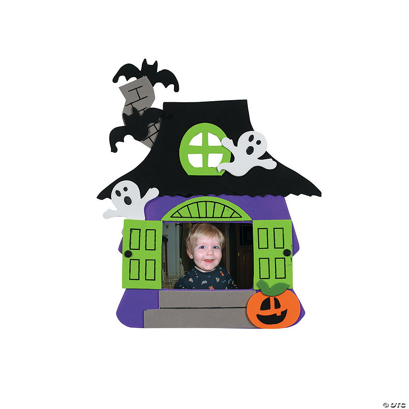 Foam Haunted House Picture Frame Magnet Craft Kit - Discontinued