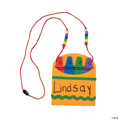 Back-To-School Name Tag Necklace Craft Kit