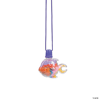 Tropical Fish Sand Art Bottle Necklaces