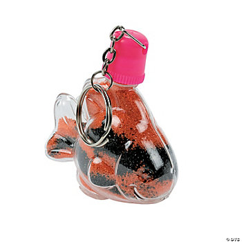Tropical Fish Sand Art Bottle Key Chains