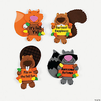 Foam Fall Friends Magnet Craft Kit