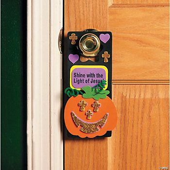 Foam Christian Pumpkin Doorknob Hanger Craft Kit