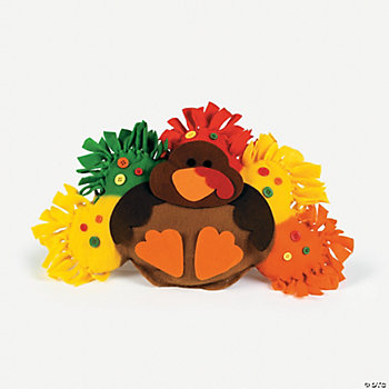 Fleece Turkey Tied Pillow Craft Kit