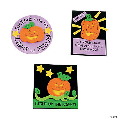 Foam Christian Pumpkin Magnet Craft Kit