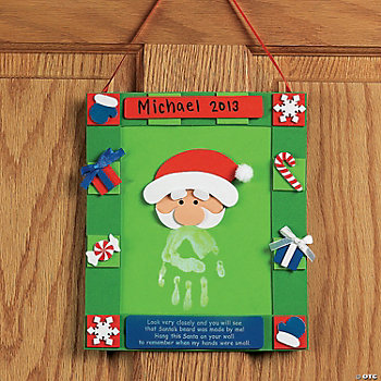 Handprint Santa Hanging Craft Kit