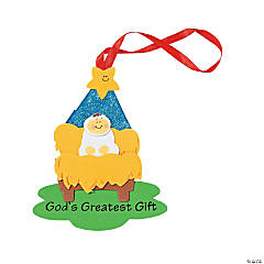 """God's Greatest Gift"" Christmas Ornament Craft Kit"