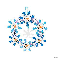 Snowman Wreath Craft Kit