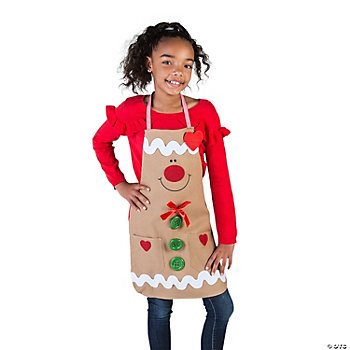 Gingerbread Child's Apron Craft Kit