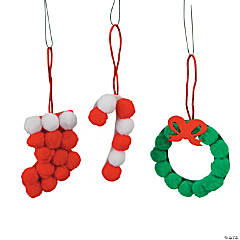 Pom-Pom Christmas Ornament Craft Kit