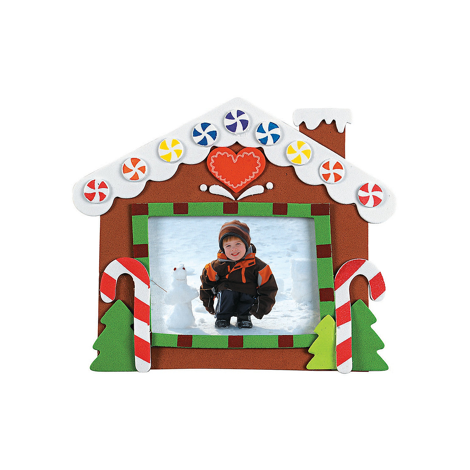 Gingerbread house picture frame magnet craft kit for Picture frames for crafts