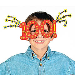 """100th Day Of School"" Glasses Craft Kit"