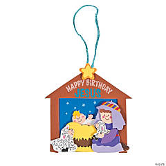 """Happy Birthday Jesus"" Christmas Ornament Craft Kit"