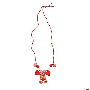 Beaded Valentine Bear Necklace Craft Kit