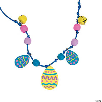 Beaded Easter Egg Necklace Craft Kit