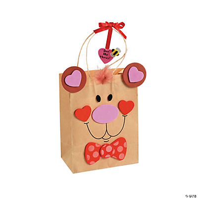 Valentine Bear Gift Bag Craft Kit