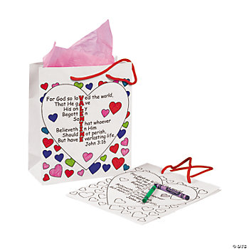 "Color Your Own ""John 3:16"" Gift Bags"