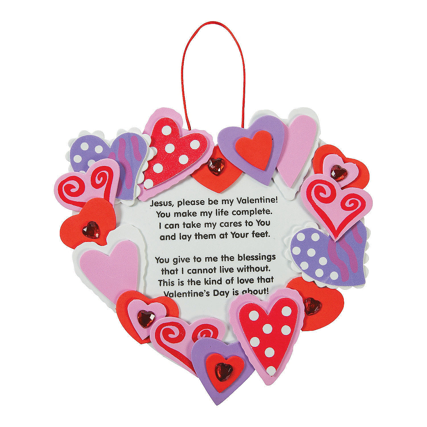 inspirational valentine wreath craft kit oriental trading