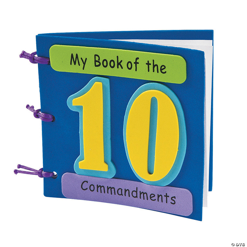 My book of the ten commandments craft kit for Ten commandments crafts for preschoolers