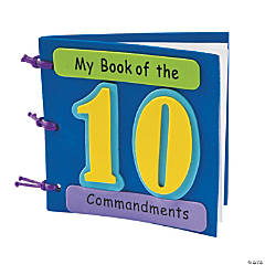 """My Book Of The 10 Commandments"" Craft Kit"