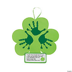 Handprint Shamrock Keepsake Craft Kit