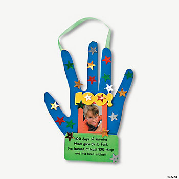 "Handprint ""100th Day Of School"" Craft Kit"