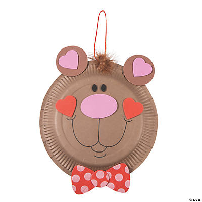 Paper Plate Valentine Bear Craft Kit