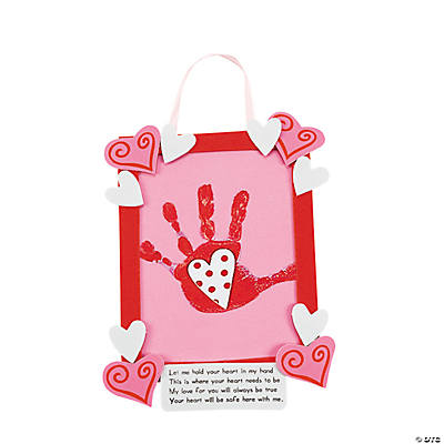 Handprint in Heart Keepsake Hanger Craft Kit