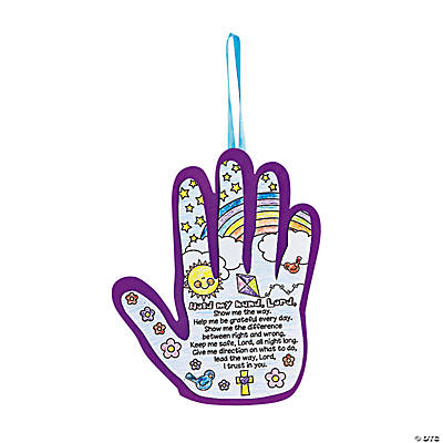 Color Your Own Inspirational Hand Poems